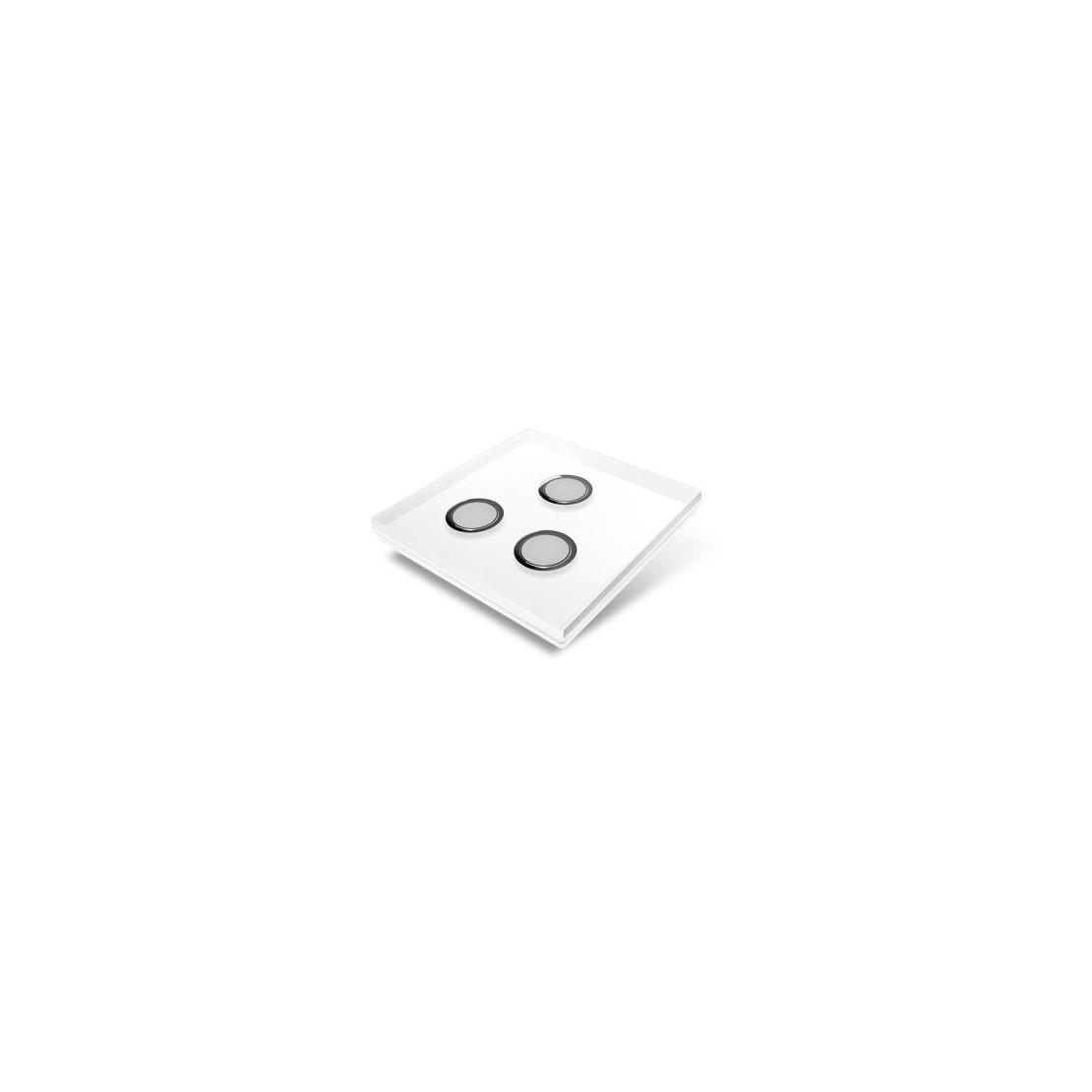 Tampa de cobertura para interruptor Edisio - cristal branco