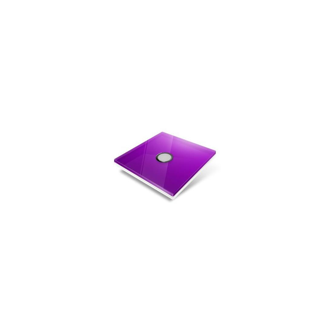 Tampa de cobertura para interruptor Edisio - cristal púrpura