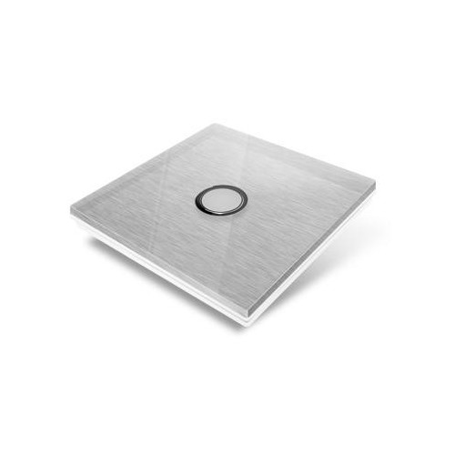 Switchplate for Edisio - grey crystal