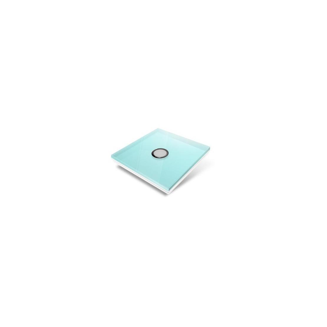 Tampa de cobertura para interruptor Edisio - cristal azul-claro