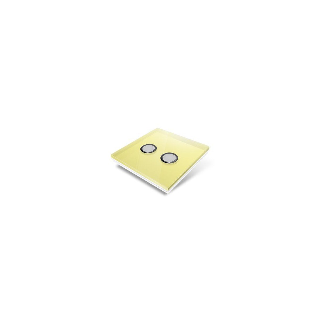 Switchplate for Edisio - yellow crystal
