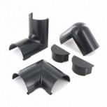 Verbindingstukken, accessoirepakket, zwart, klikverbinding, 50 x 25 mm