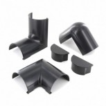 50x25 mm Pack of snap-on accessories, black