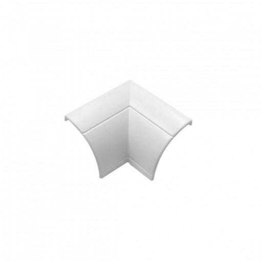 Binnenhoek, 2 x, wit, klikverbinding, 22 x 22 mm