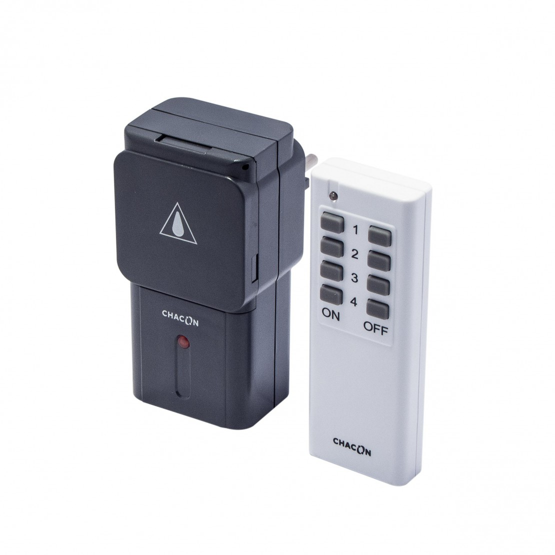 Set of 1 remote-controlled outdoor socket + remote control