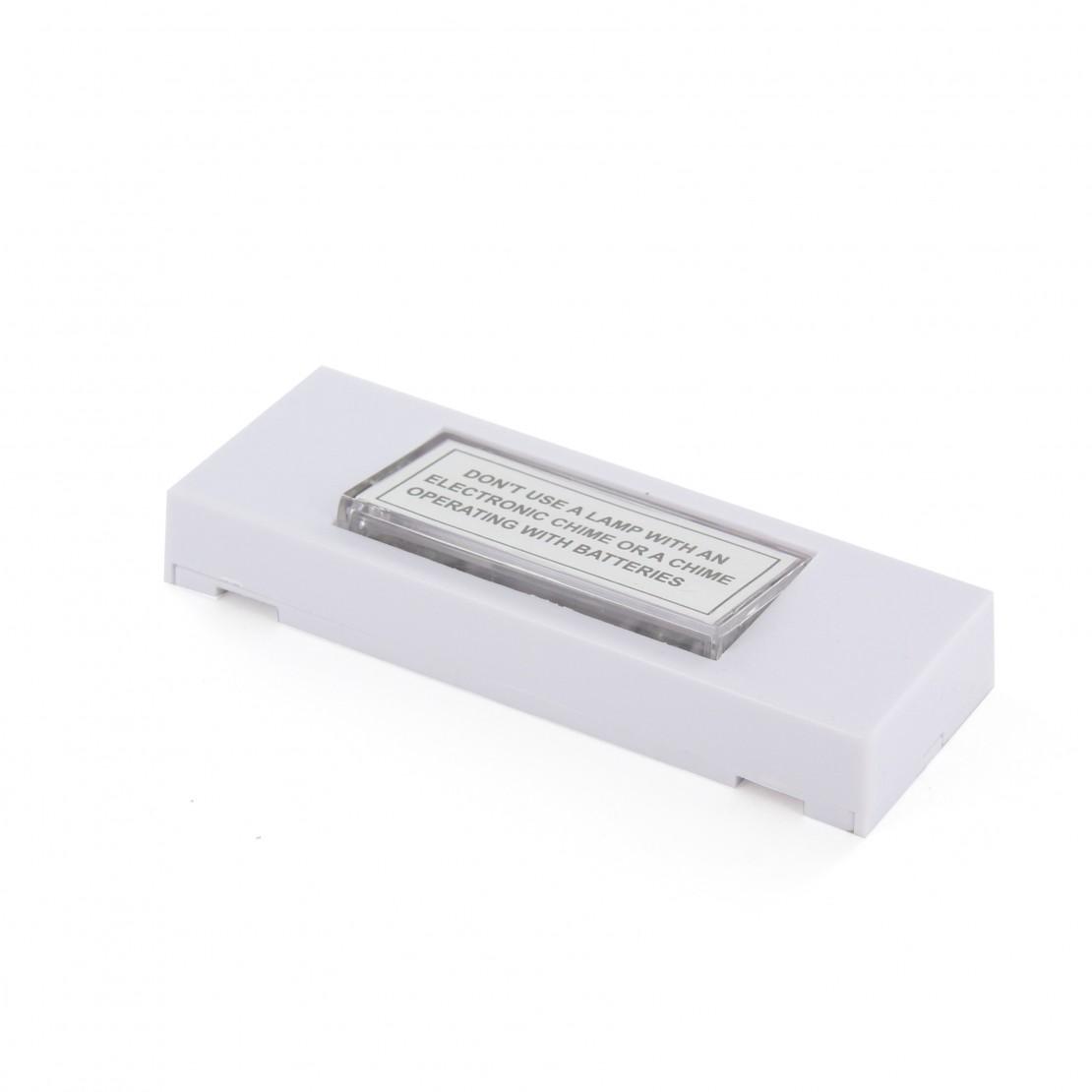 Botão de pressão branco com lâmpada