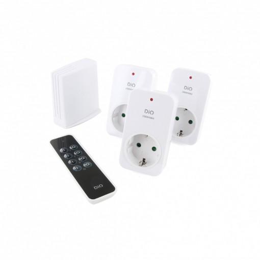 Kit de 3 enchufes On/Off, mando a distancia y LiteBox - programador bluetooth