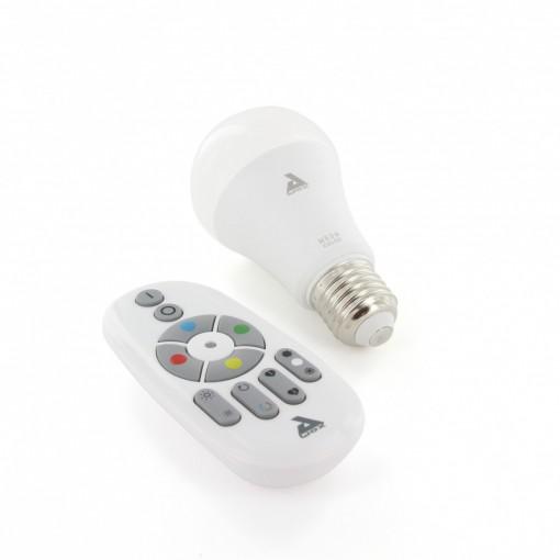 Kit met lamp, E27, kleur, Bluetooth Mesh en afstandsbediening