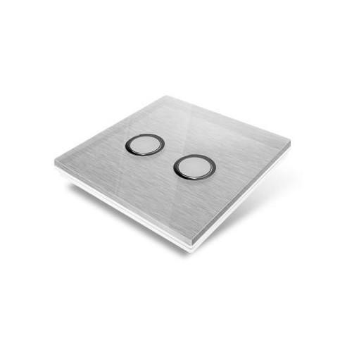 Cubierta para interruptor Edisio - crystal gris