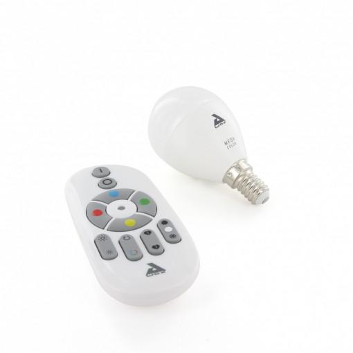 Conjunto de lâmpadas E14 de cor, Bluetooth Mesh e telecomando