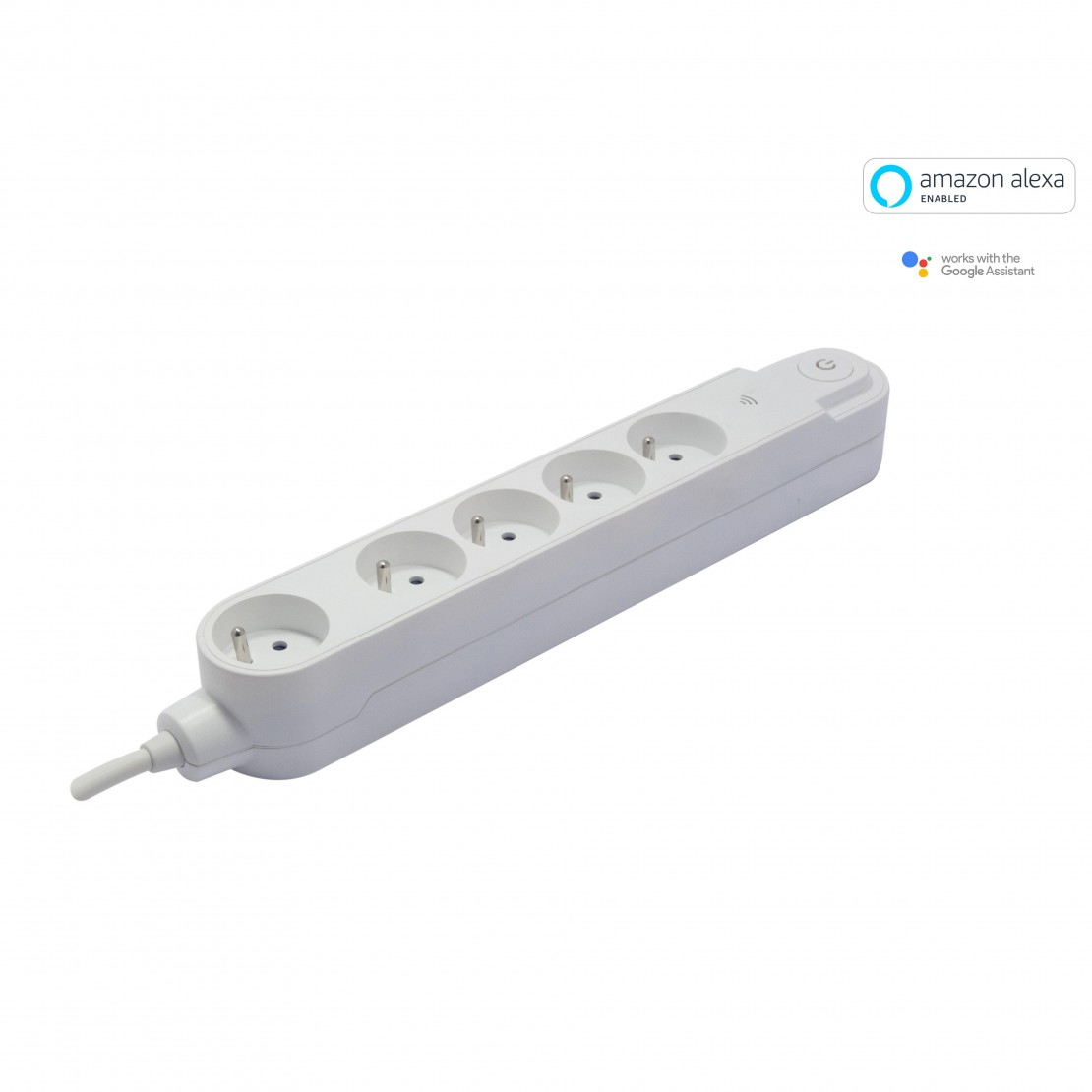 Multiprise Wifi - 5 x 16 A - 1 .5 m - blanc