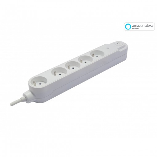 Multiprise Wifi - 5 x 16 A - 1 .5 m - blanc