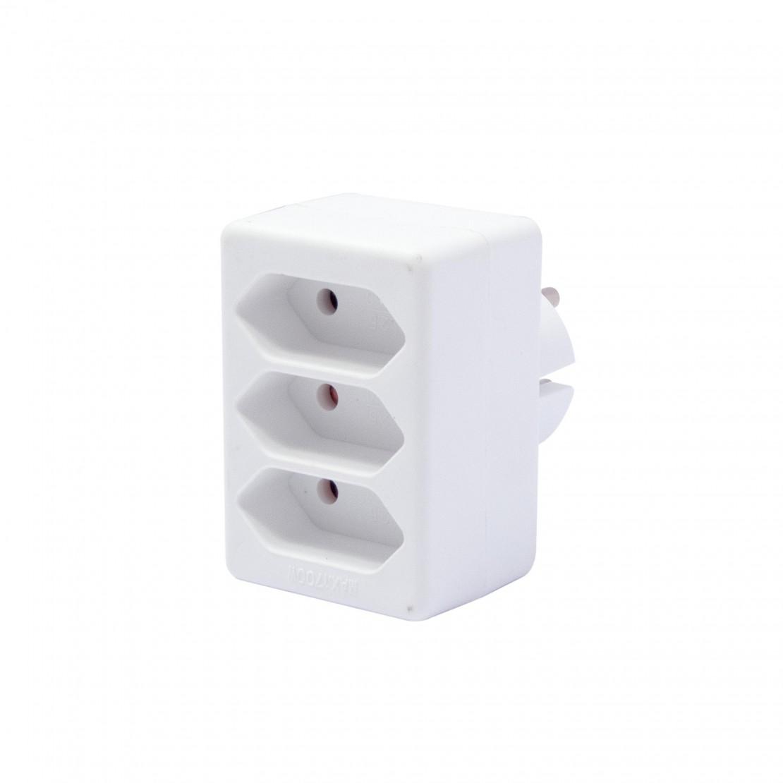 Ladrón 3x2,5A - Blanco (SCH)