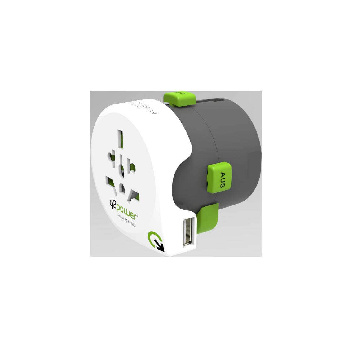 Adaptateur de voyage - q2power Qdapter USB