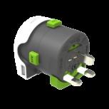 Adaptador de viaje q2powerQdapter 360 USB