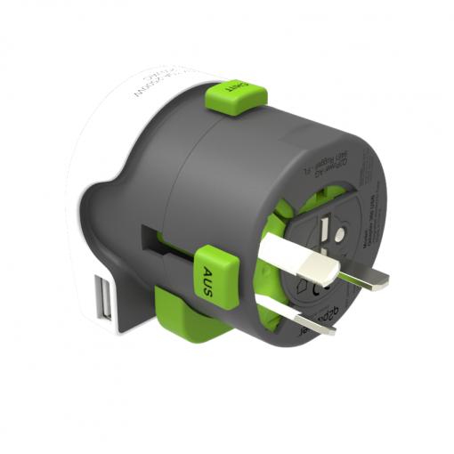 Reisadapter - q2powerQdapter 360 USB
