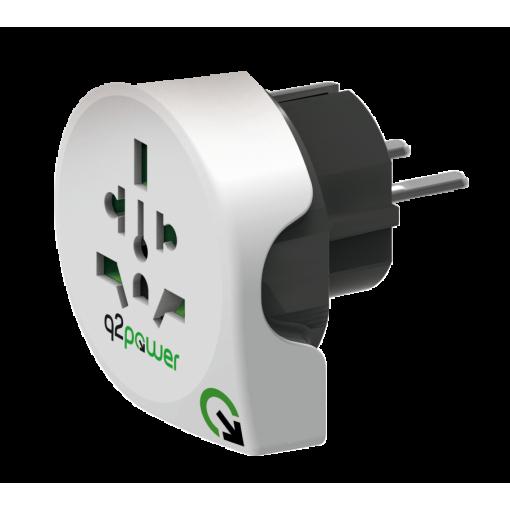 Reisadapter - q2powerWorld toEurope