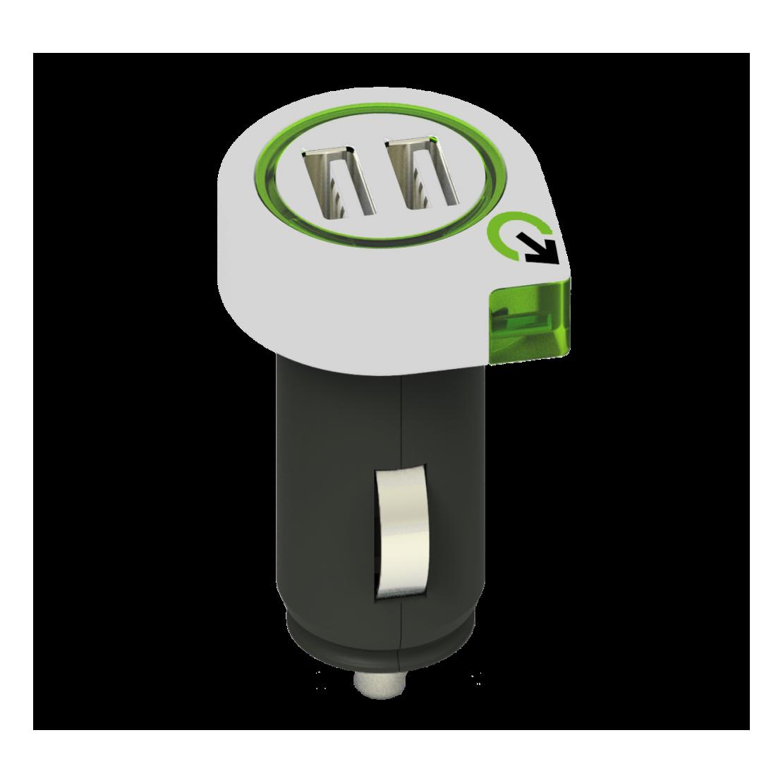 Chargeur de voiture double USB 2.1A - q2power
