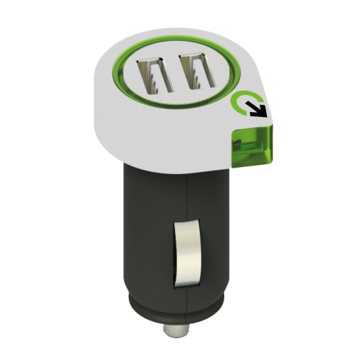 Dual USB autolader 2.1A q2power