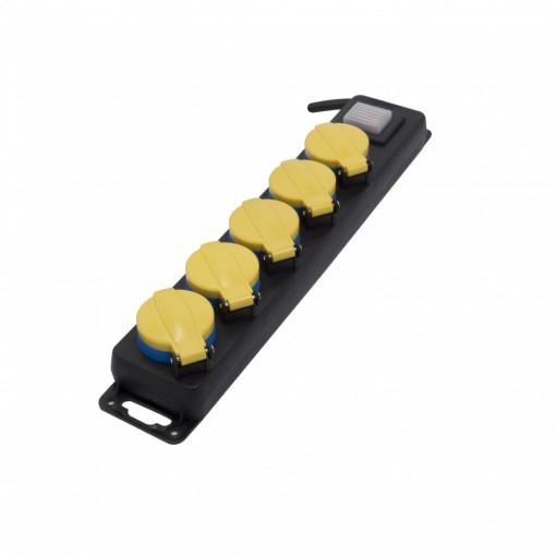 Multistekker 5 x 16A spatwaterdicht - 3m + schakelaar (SCH)