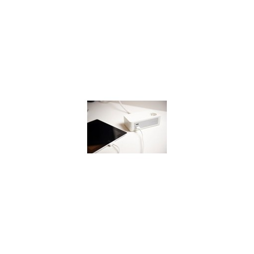 Bloc bureau 3X16A + 2 x USB - 1,5 m - Blanc
