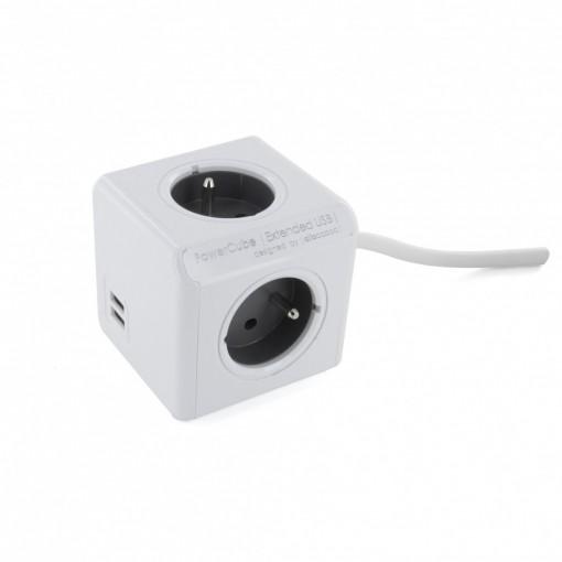 Powercube extended 3 x 16A+ 2x USB 2.0 A - 1.5 m
