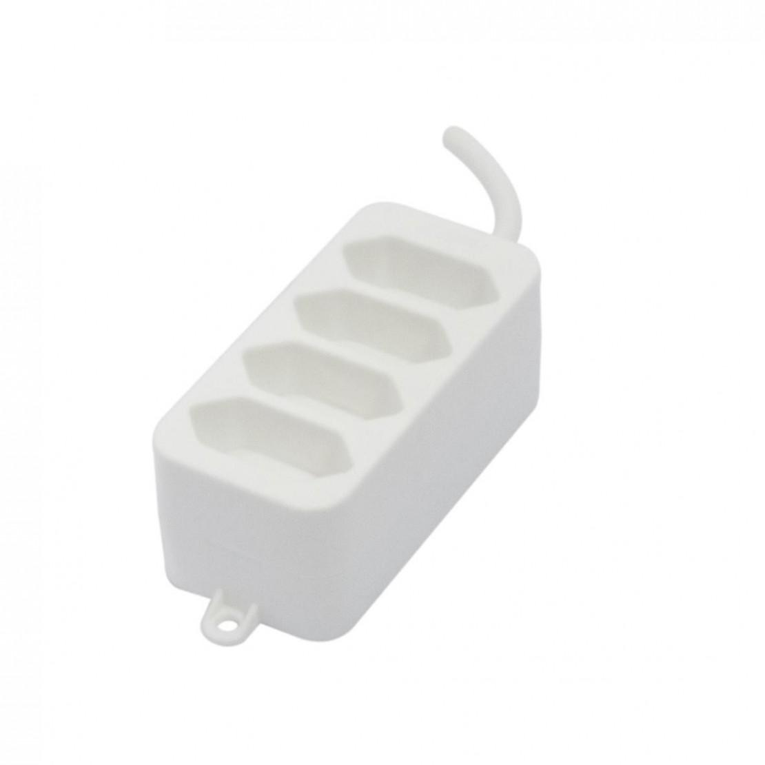 Bloc 4 x 2,5 A - 1,5 m - Blanc