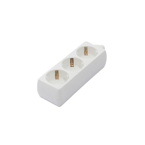 Multistekker 3 x 16A  zonder snoer - wit(SCH)