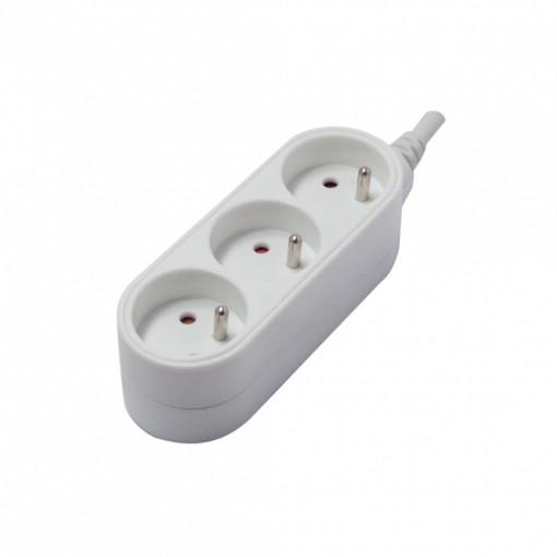 Bloc Design 3 x 16A - 0,5 m - blanc