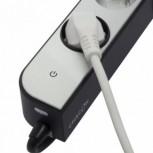 Bloc 5 x 16 A + 2 USB 3G1.0 mm 2 1.5 m - Blanc/gris