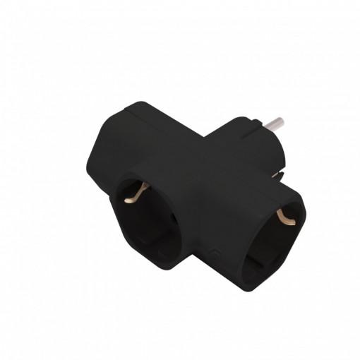 Domino 3x16A - Noir (SCH)