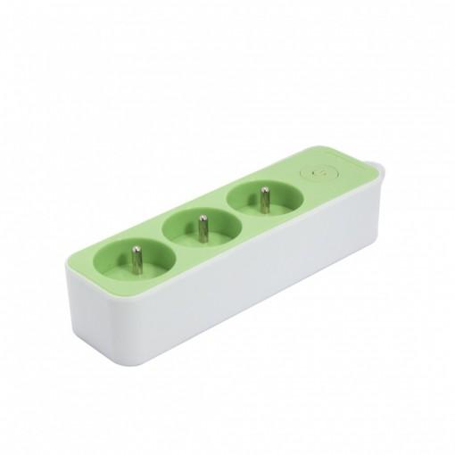 Multistekker  3 x 16A3G1.0 mm21.5 m - Wit/ Groen