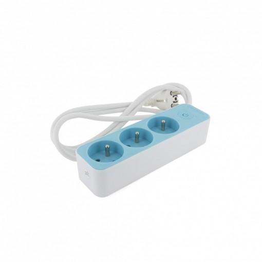 Bloc 3 x 16 A 3G1.0 mm2 1.5 m - Blanc/  Bleu