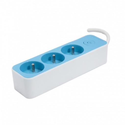 Multistekker  3 x 16A3G1.0 mm21.5 m - Wit/ Blauw