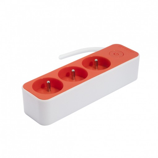 Multistekker  3 x 16A3G1.0 mm21.5 m - Wit/ Rood