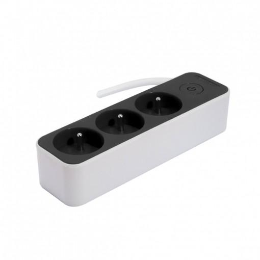 BLOK 3x16 A 3G1,5mm2 1,5m- WIT/GRIJS