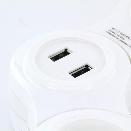 Multiprise Snake - 3 x 16 A + 2 x USB - 1.5 m - FR