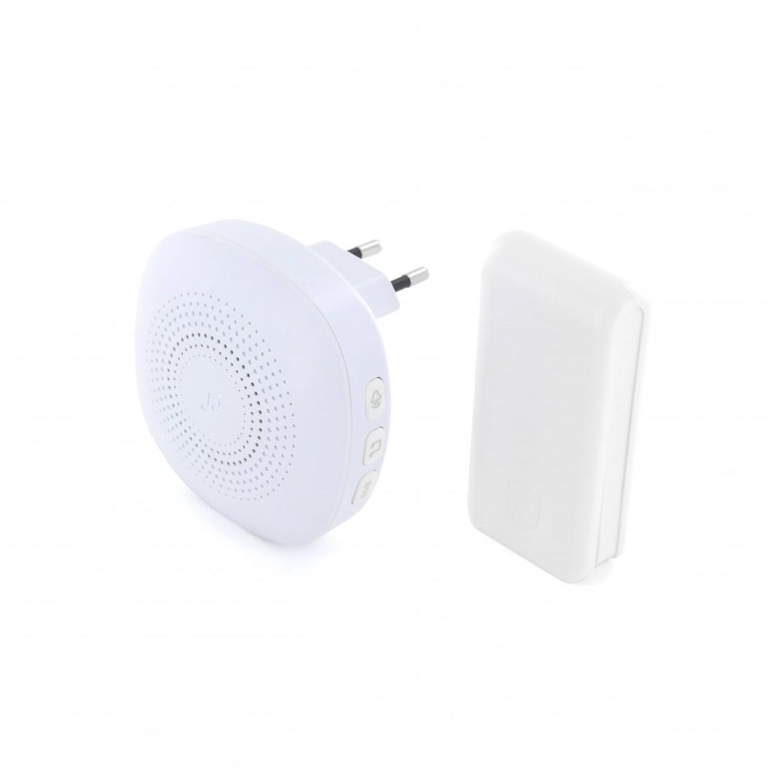 Stylish White Doorbell Wireless And Battery Free Doorbell