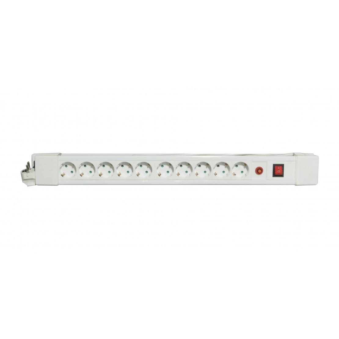 Bloc 10 x 16 A avec interrupte ur - 1,5 m 3 x 1.5mm2- blanc ( SCH)