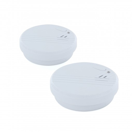 2 Détecteurs de fumée optiques avec pile alkaline 9V - 1an