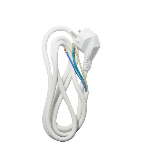 Cordon HO5VVF 3 x 1,5mm2 - 3 m - blanc