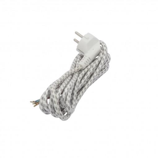 Strijkijzersnoer - 3m 3 x 1,0mm2- zwart/wit