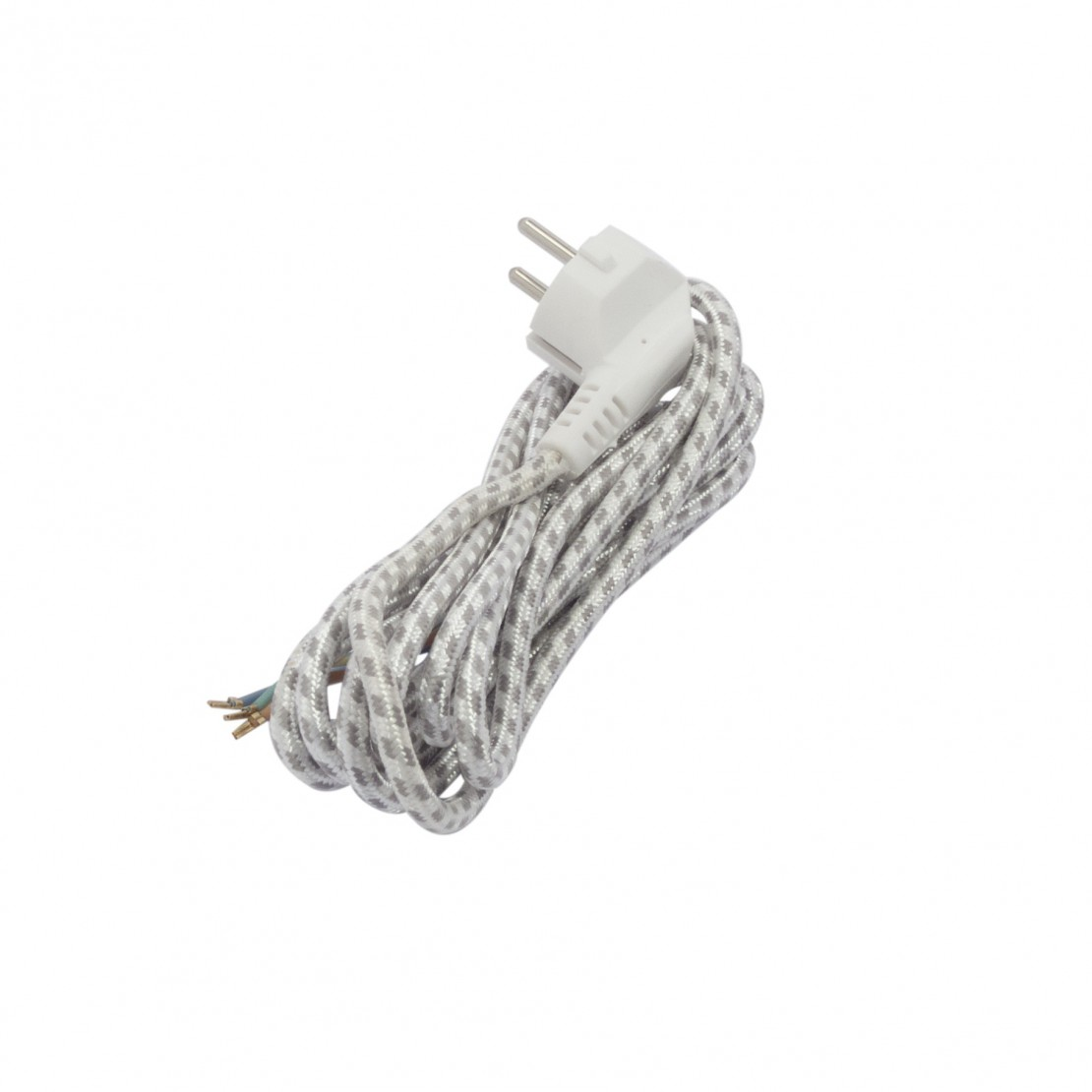 Cable de plancha - 3m - 3x1,0mm2 - Negro/Blanco (SCH)