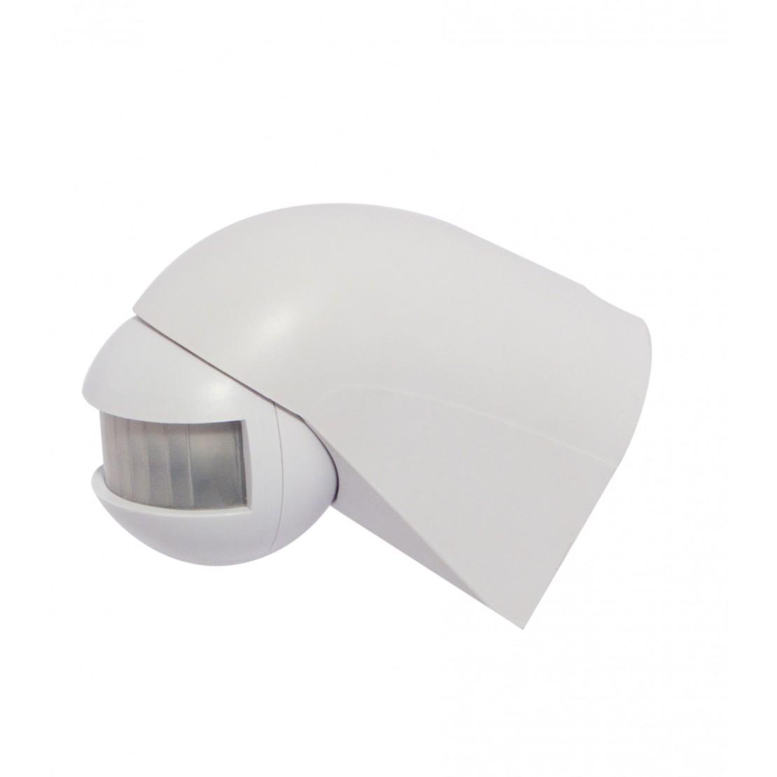 Détecteur de mouvement 180° or ientable - blanc