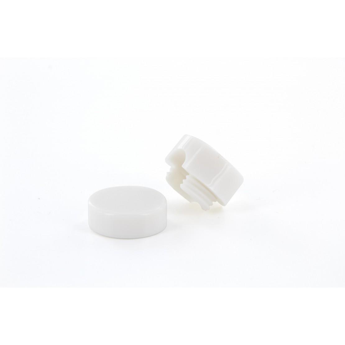 Fixation au mur  pour le passa ge d'un câble textile - blanc - 2PCES
