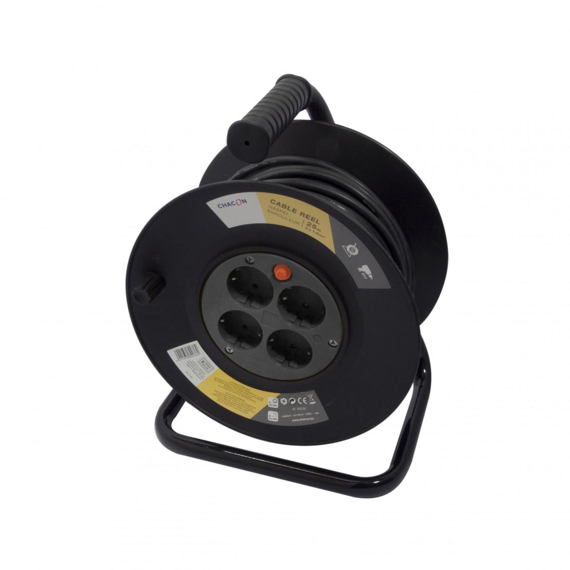 Enrouleur 4 x 16A - 25 m - 3x1 ,0 mm2 (SCH)