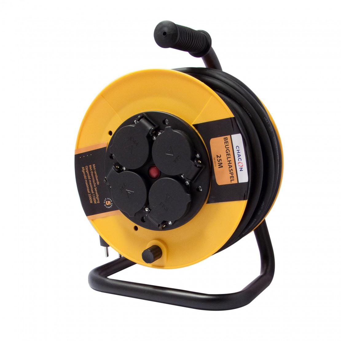 Enrollador de obra 4X16A HO7 RN-F3x1,5mm2  - 25m (SCH)