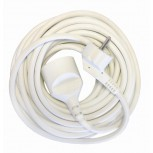 Prolongateur HO5VVF 3 x 1,5mm2 -  3 m - blanc