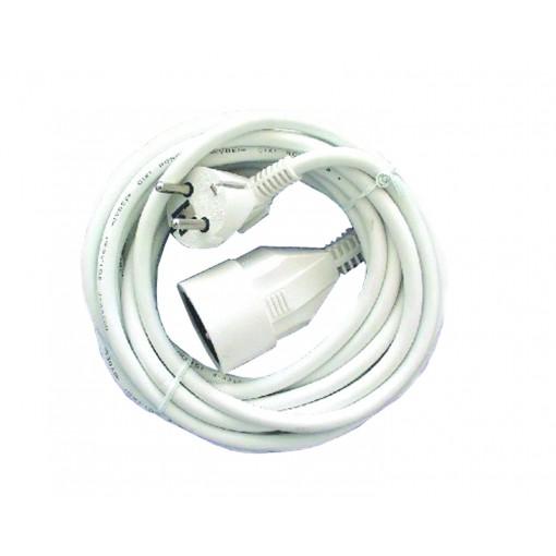 Prolongateur HO5VVF 3 x 1,5mm2 -   5 m - blanc