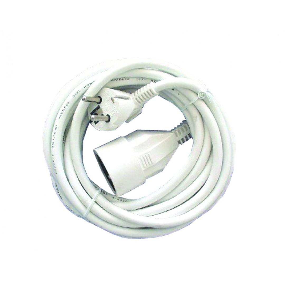 Verlengsnoer - HO5VVF - 3 x 1,5mm2 - 5m- wit